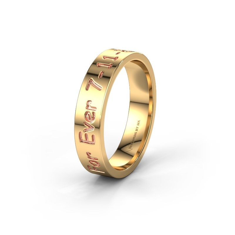 Wedding ring WH2130M15A 585 gold ±5x1.7 mm