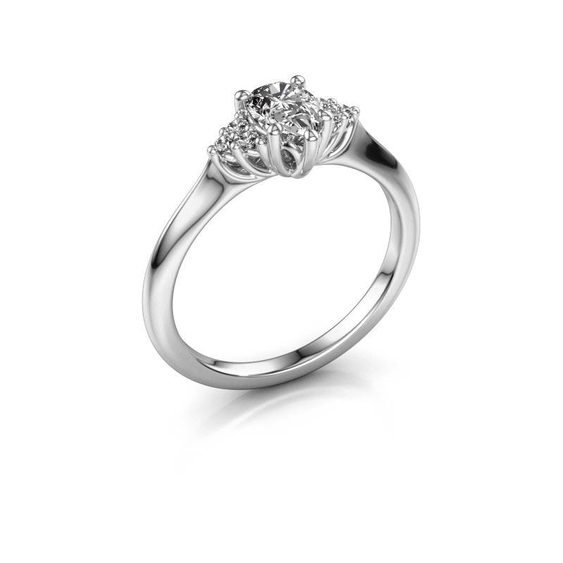 Verlovingsring Felipa per 585 witgoud diamant 0.579 crt