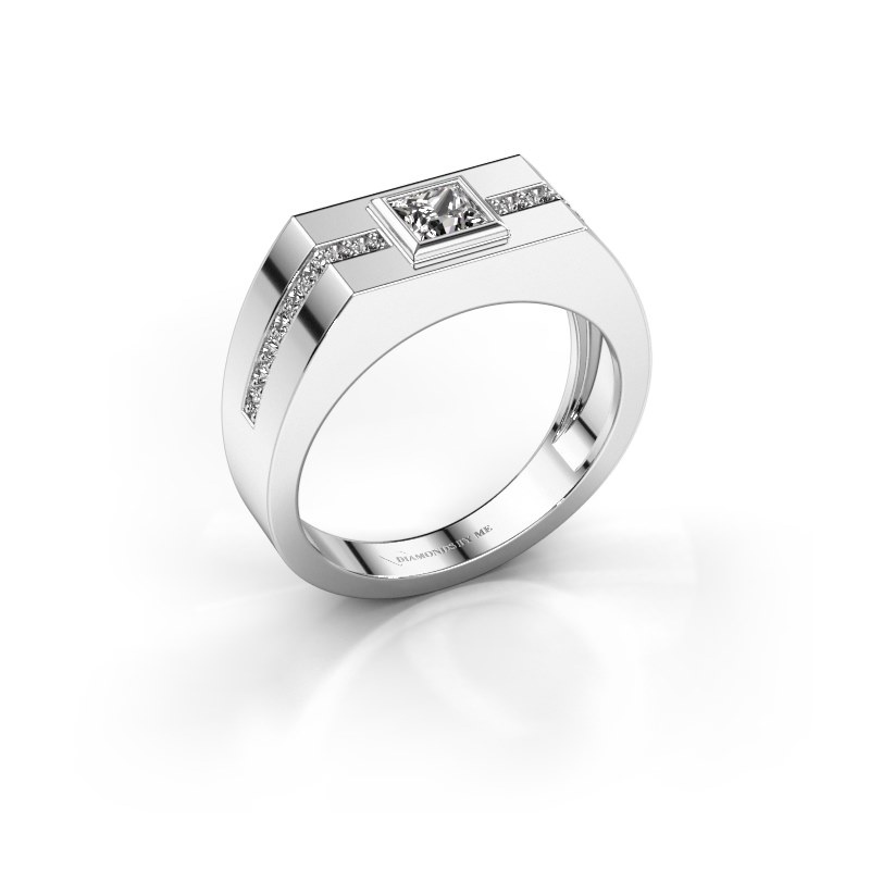 Herrenring Robertus 2 585 Weißgold Diamant 0.592 crt