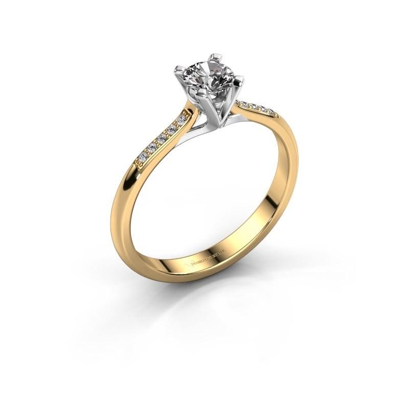 Aanzoeksring Isa 2 375 goud lab-grown diamant 0.30 crt