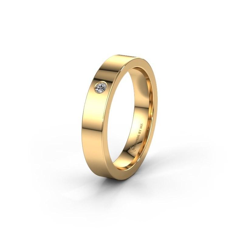 Alliance WH0101L14BP 375 or jaune diamant synthétique ±4x1.5 mm