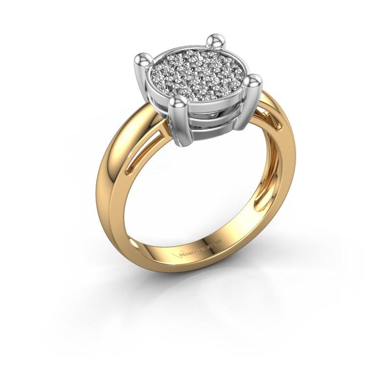 Ring Dina 585 goud zirkonia 1.6 mm