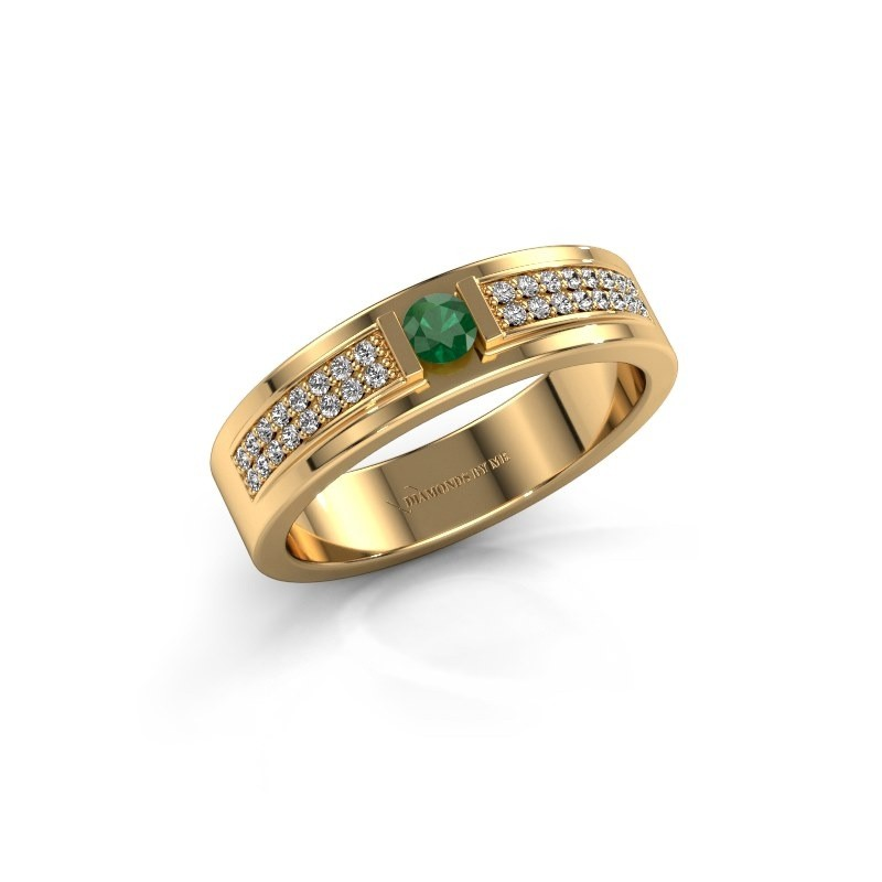 Ring Chanell 375 goud smaragd 3 mm