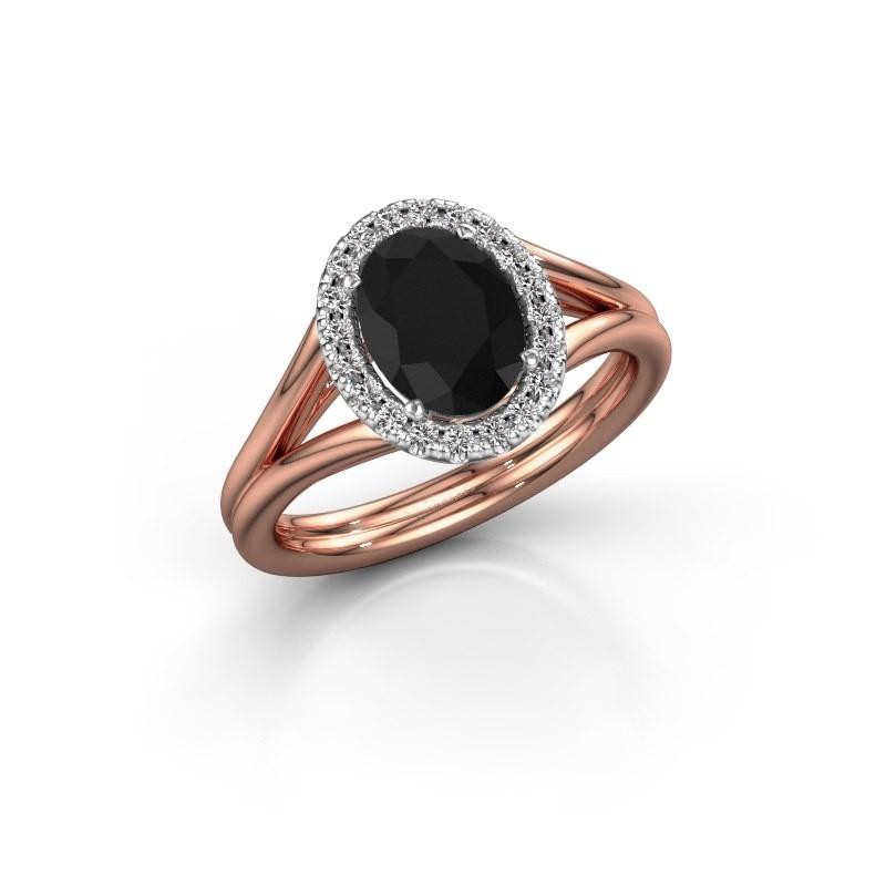 Engagement ring Rachele 1 585 rose gold black diamond 1.530 crt