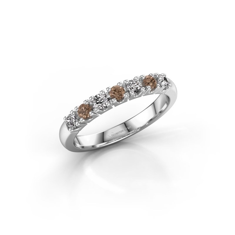 Engagement ring Rianne 7 925 silver brown diamond 0.385 crt