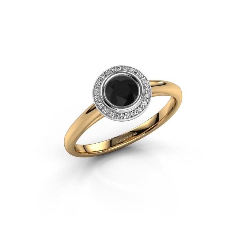 Promise ring Noud 1 RND 585 goud zwarte diamant 0.53 crt