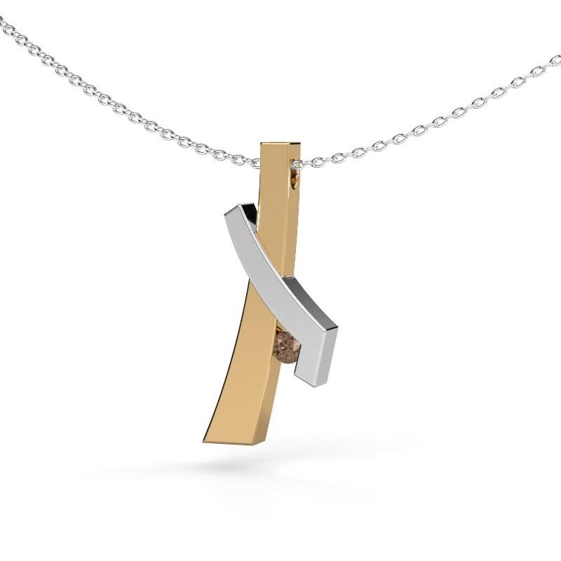 Hanger Alyssa 585 goud bruine diamant 0.08 crt