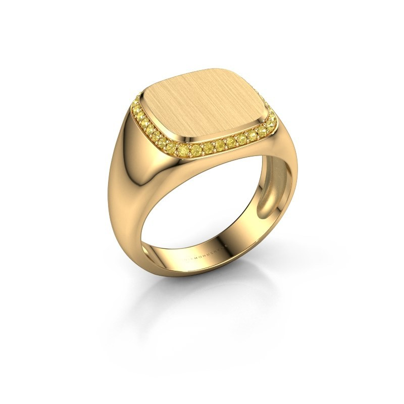 Heren ring Jesse 1 585 goud gele saffier 1.2 mm