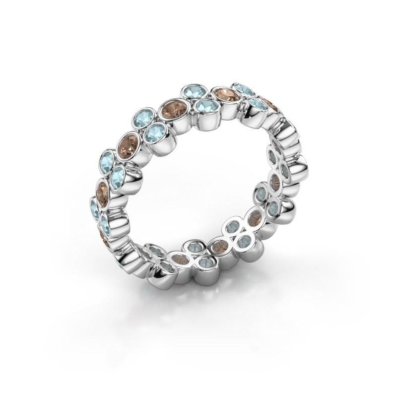 Ring Victoria 950 platina bruine diamant 0.66 crt