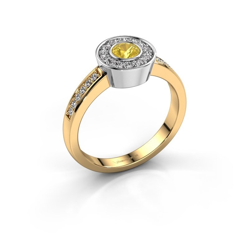 Ring Adriana 2 585 Gold Gelb Saphir 4 mm