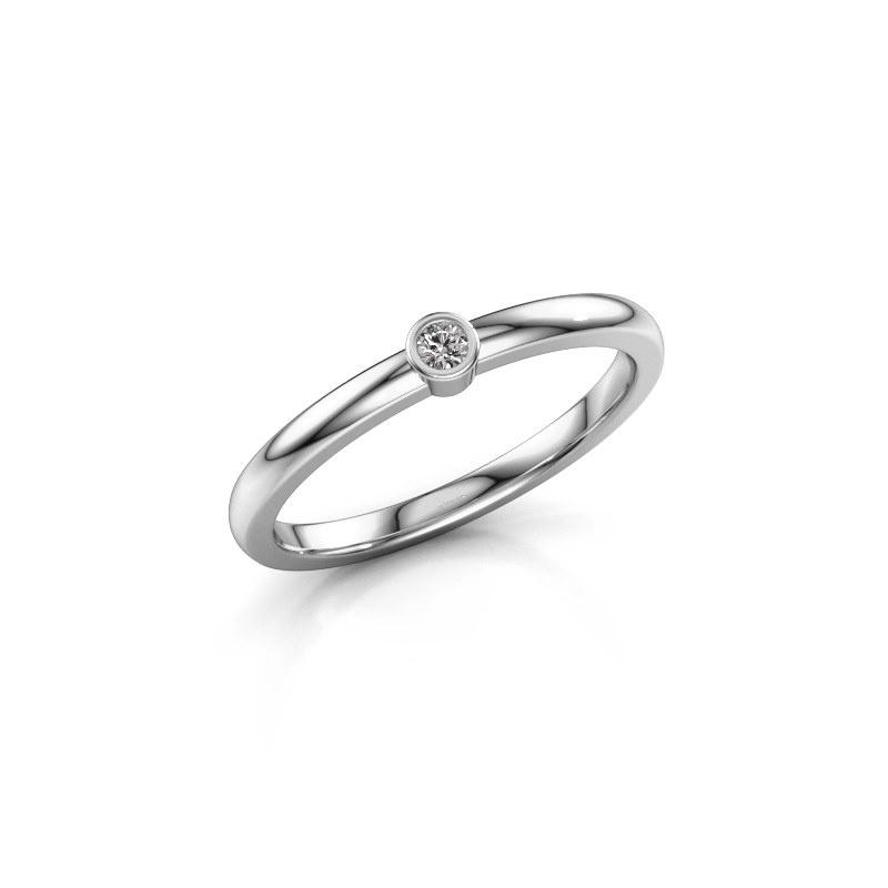 Ring Ise 1 585 white gold diamond 0.03 crt