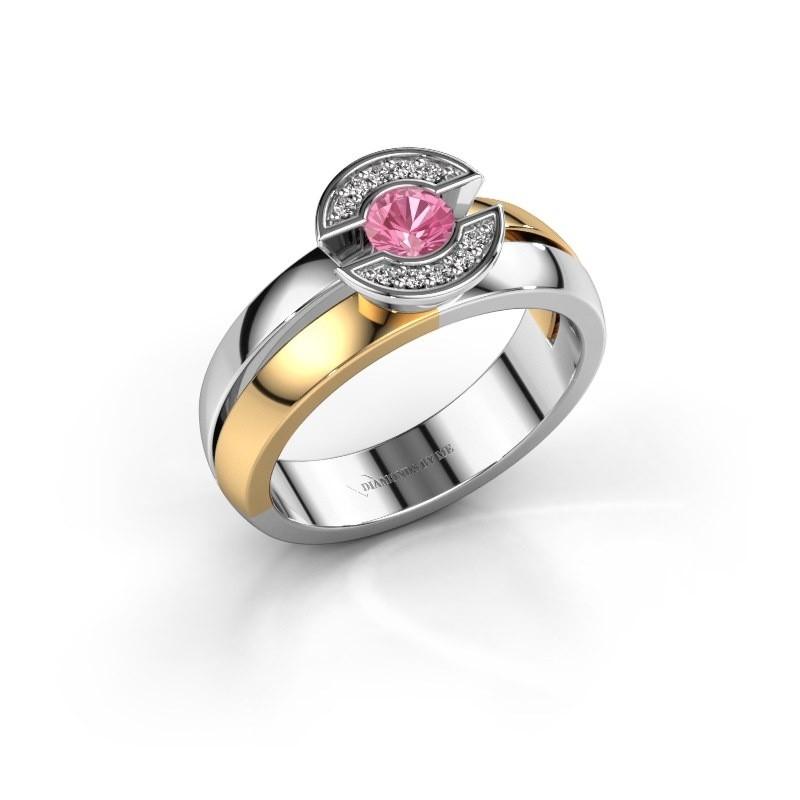 Ring Jeanet 1 585 goud roze saffier 4 mm