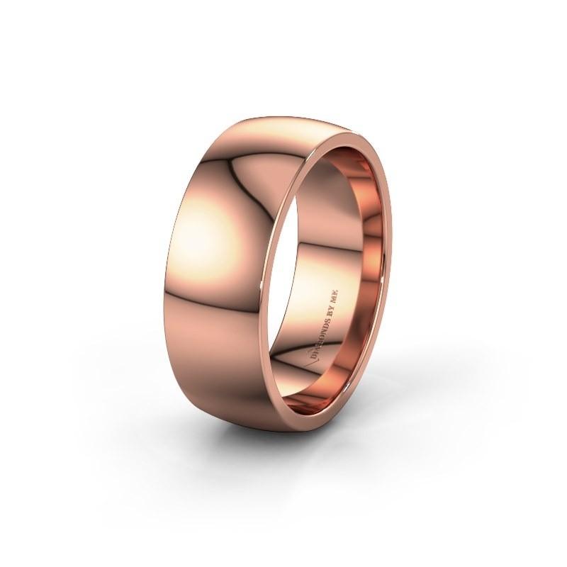 Wedding ring WH0100M28BP 375 rose gold ±0.31x0.08 in