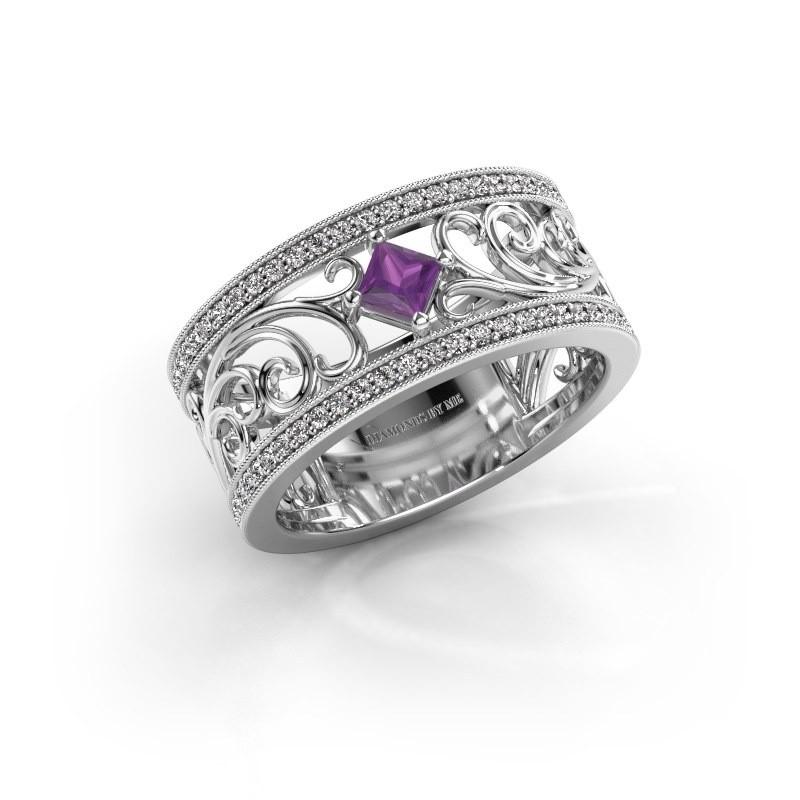 Ring Danae 925 zilver amethist 3 mm