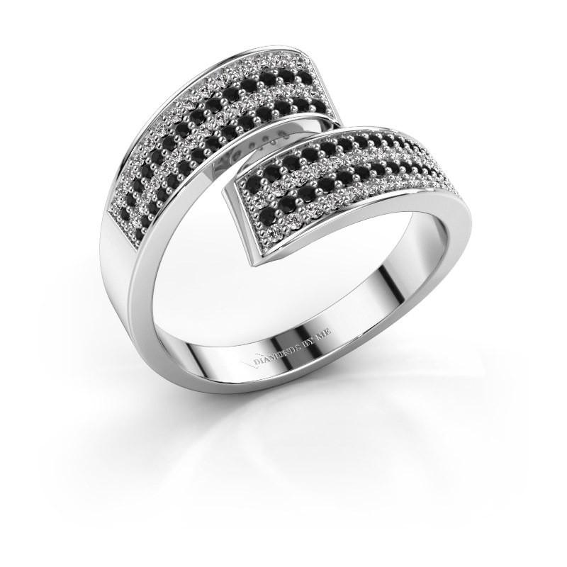 Ring Athena 950 platina zwarte diamant 0.741 crt