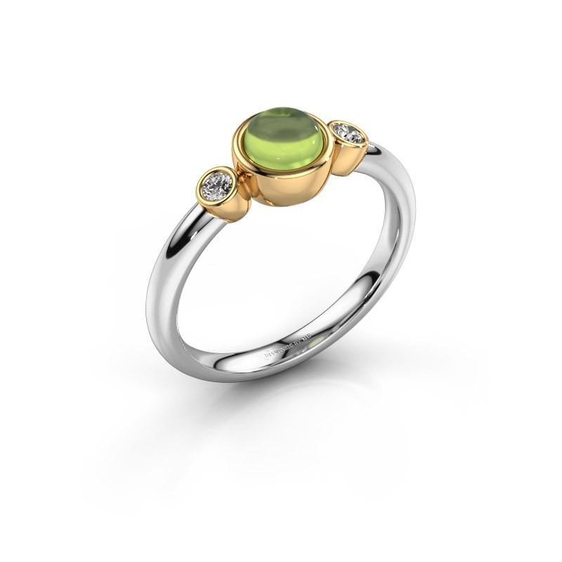 Ring Muriel 585 white gold peridot 5 mm