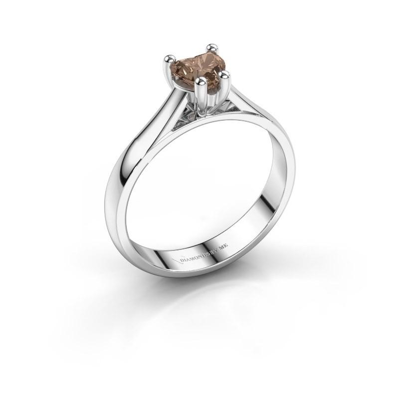 Verlobungsring Sam Heart 585 Weißgold Braun Diamant 0.50 crt