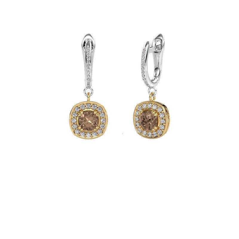 Oorhangers Marlotte 2 585 goud bruine diamant 1.365 crt
