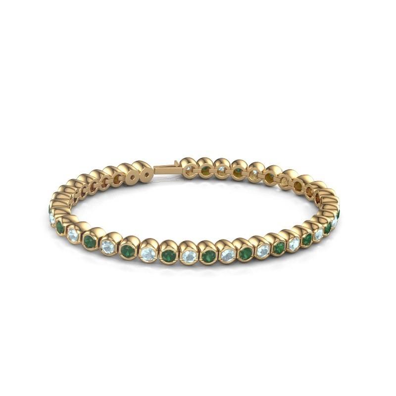 Tennisarmband Mellisa 375 goud smaragd 3.5 mm