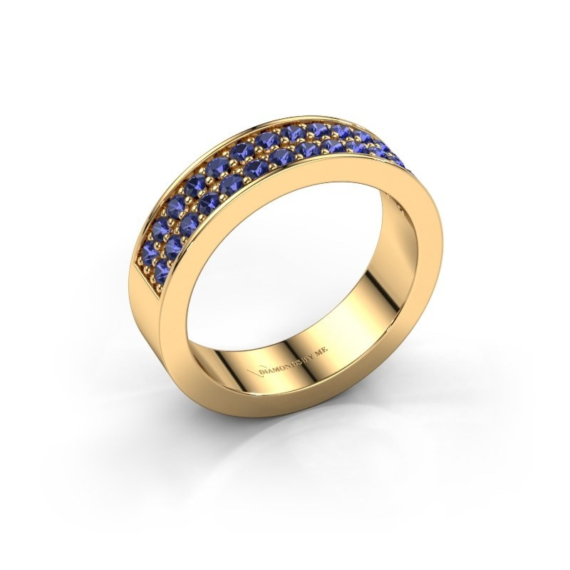 Stackable ring Catharina 6 375 gold sapphire 1.7 mm
