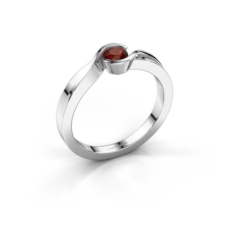 Ring Lola 925 Silber Granat 4 mm