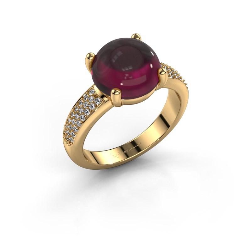 Ring Sophie 585 Gold Rhodolit 10 mm