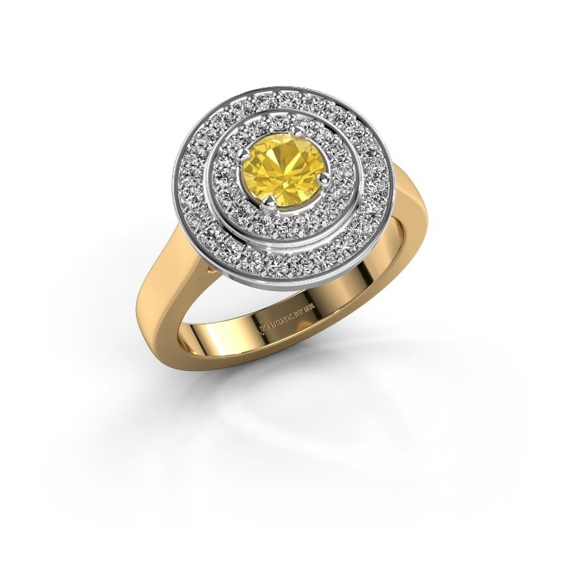 Ring Alecia 1 585 goud gele saffier 5 mm