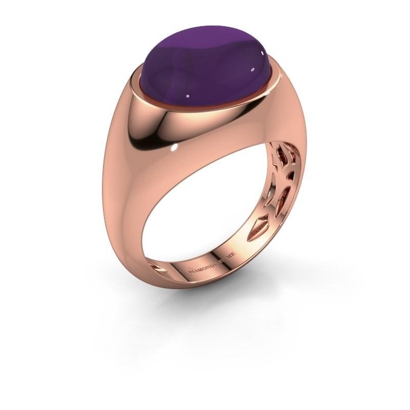 Ring Laurien 375 rosé goud amethist 12x10 mm