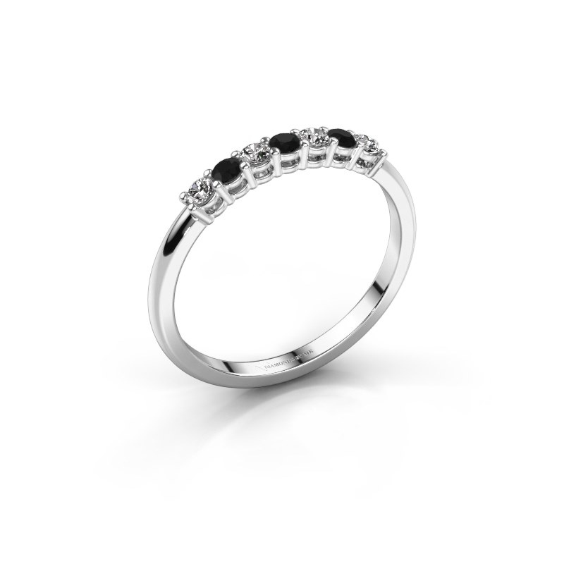 Engagement ring Michelle 7 585 white gold black diamond 0.228 crt