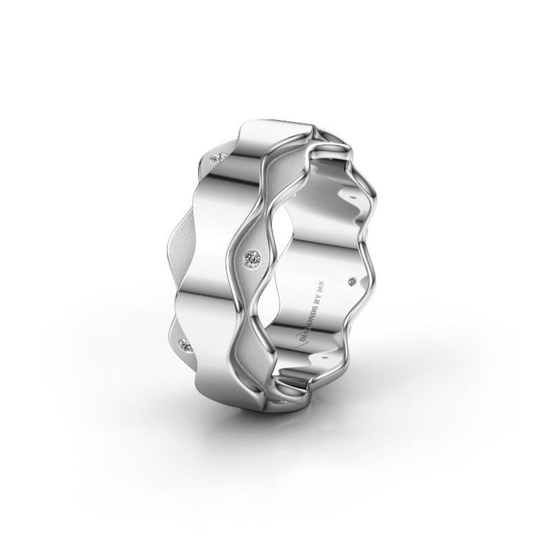 Trouwring WH2034P 925 zilver diamant ±7x2.4 mm