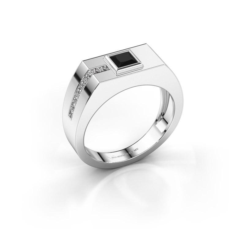 Herrenring Robertus 1 375 Weißgold Schwarz Diamant 0.576 crt