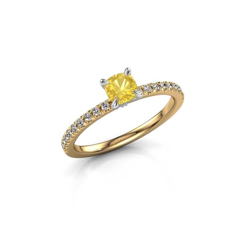 Verlobungsring Crystal CUS 2 585 Gold Gelb Saphir 5 mm