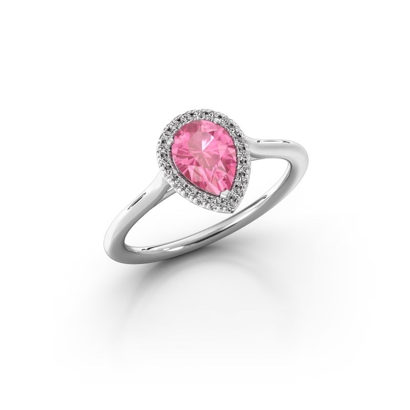 Engagement ring Seline per 1 925 silver pink sapphire 7x5 mm