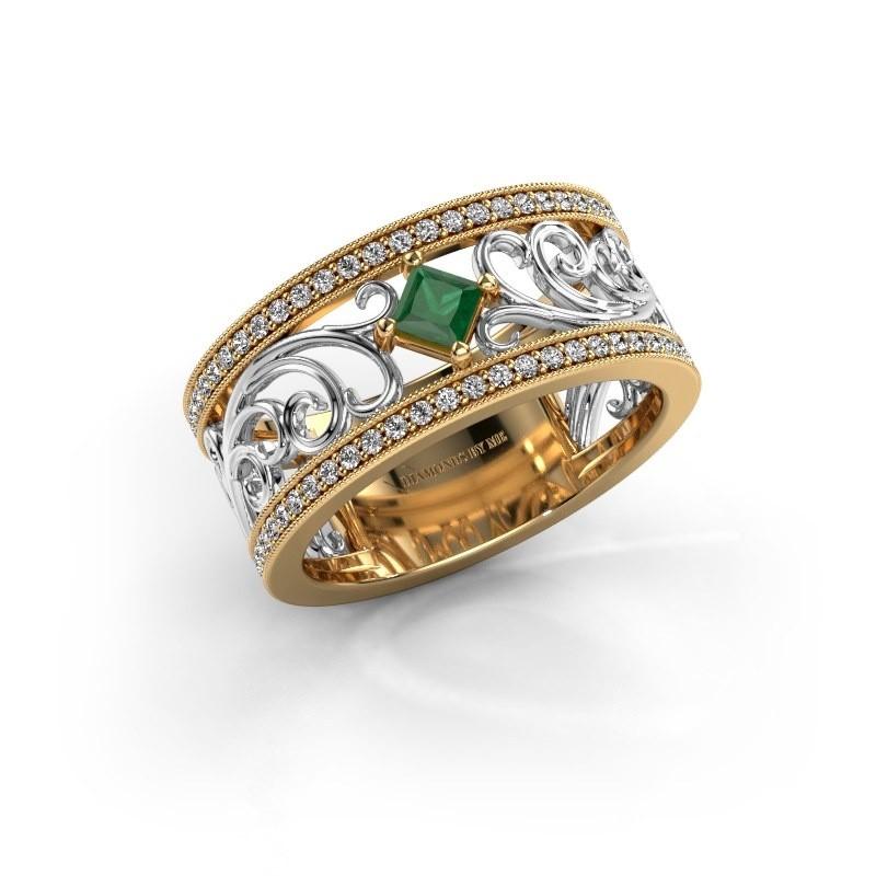 Ring Danae 585 goud smaragd 3 mm