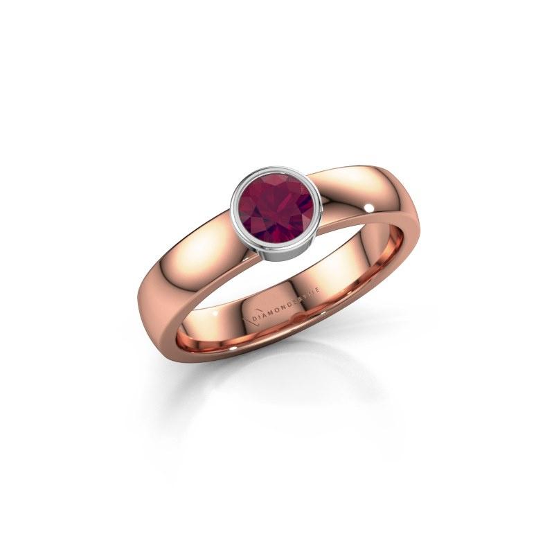 Ring Ise 1 585 rosé goud rhodoliet 4.7 mm