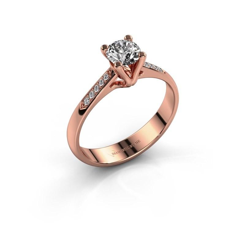 Bague de fiançailles Janna 2 375 or rose diamant 0.50 crt