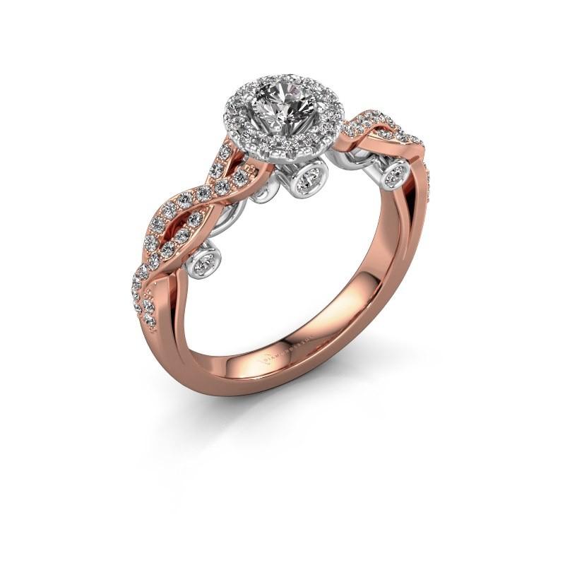 Verlobungsring Madeleine 585 Roségold Diamant 0.708 crt