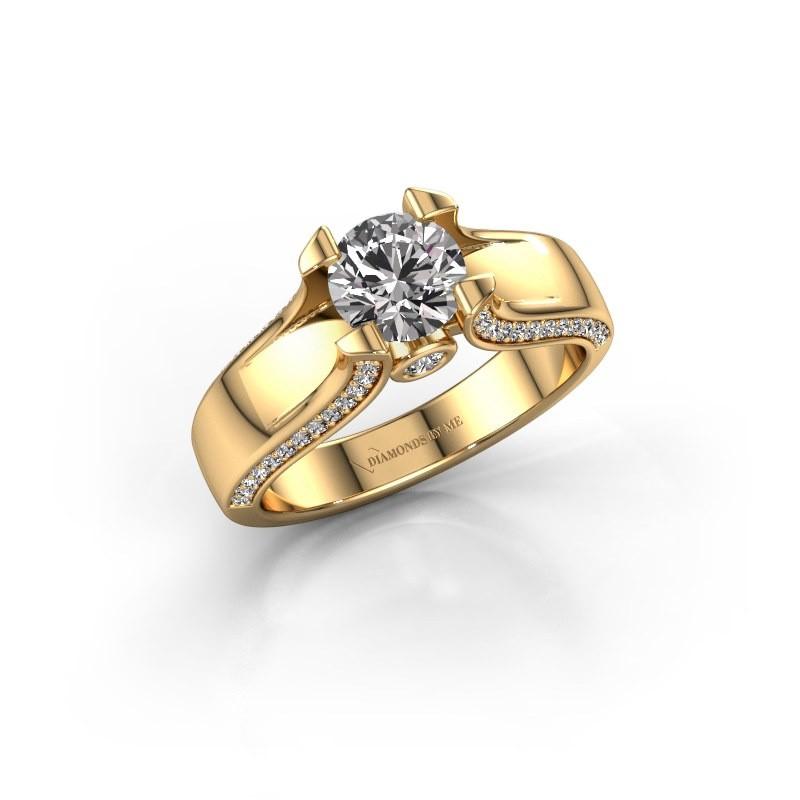 Verlovingsring Jeanne 1 375 goud diamant 1.385 crt