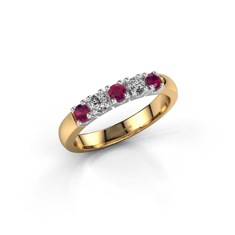 Engagement ring Rianne 5 585 gold rhodolite 2.7 mm