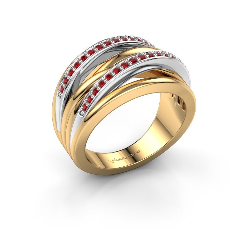 Ring Annabel 2 585 goud robijn 1.2 mm