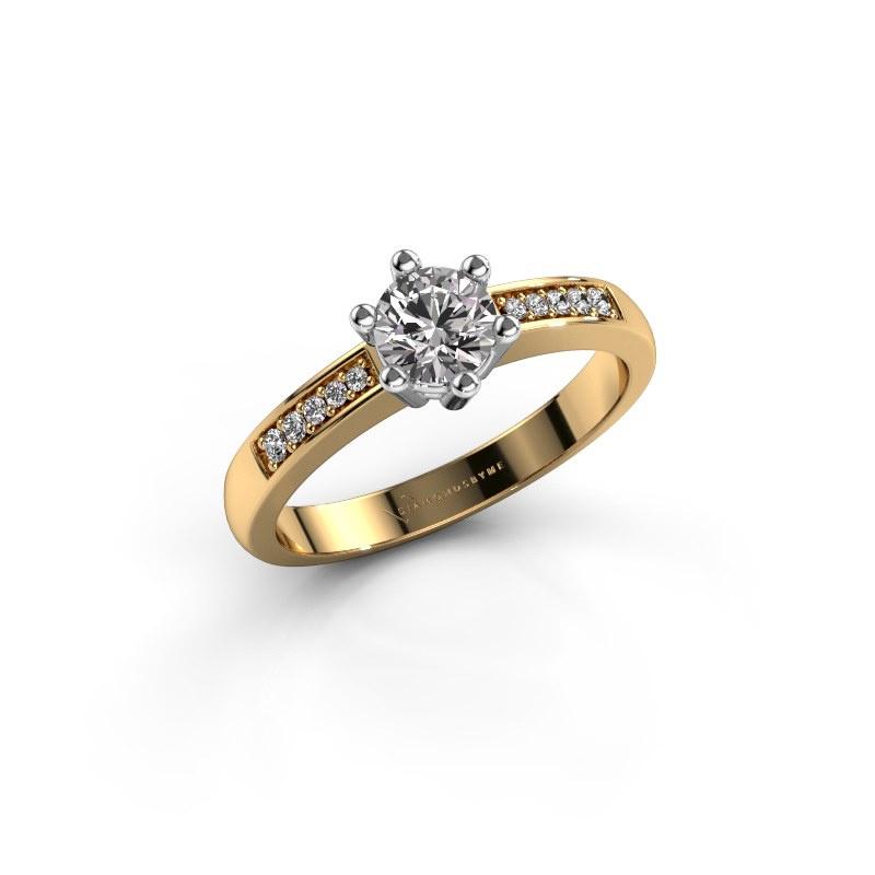 Verlovingsring Luna 2 585 goud diamant 0.40 crt