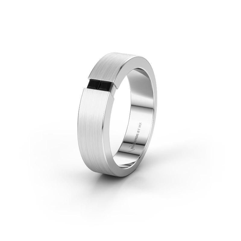 Trouwring WH2136L15E 925 zilver zwarte diamant ±5x2.6 mm