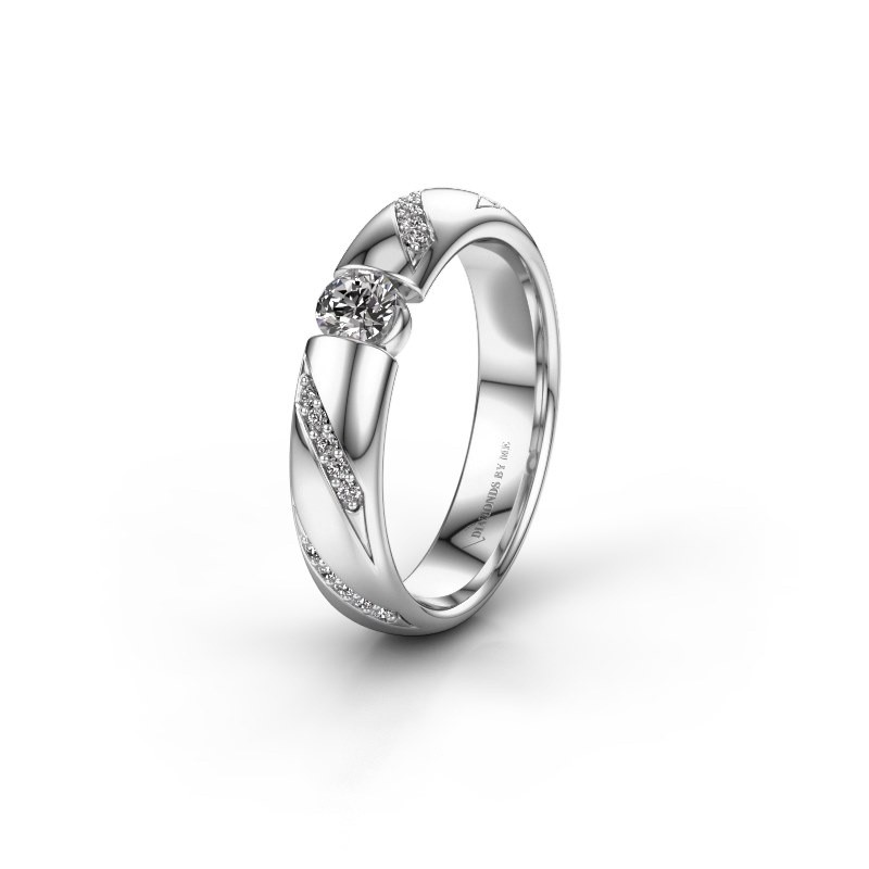 Trouwring WH2102L34A 925 zilver lab-grown diamant ±4x1.7 mm