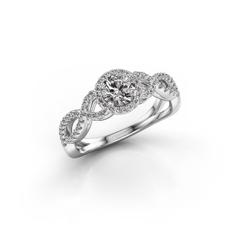 Engagement ring Dionne rnd 950 platinum diamond 0.72 crt