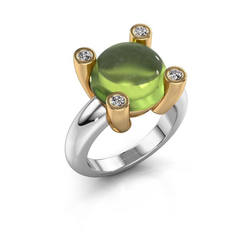 Ring Janice RND 585 witgoud peridoot 12 mm