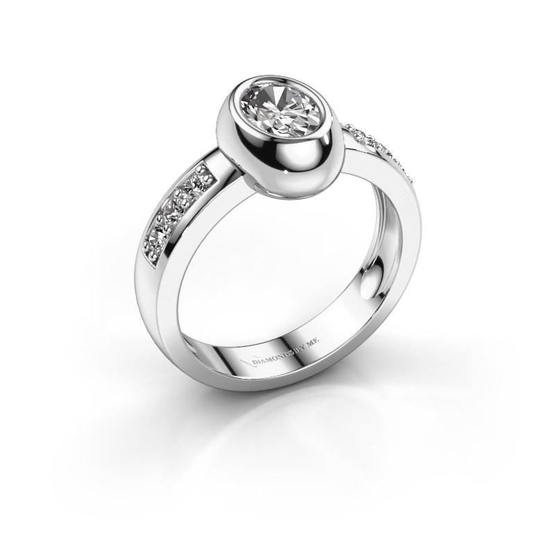 Ring Charlotte Oval 585 white gold zirconia 7x5 mm