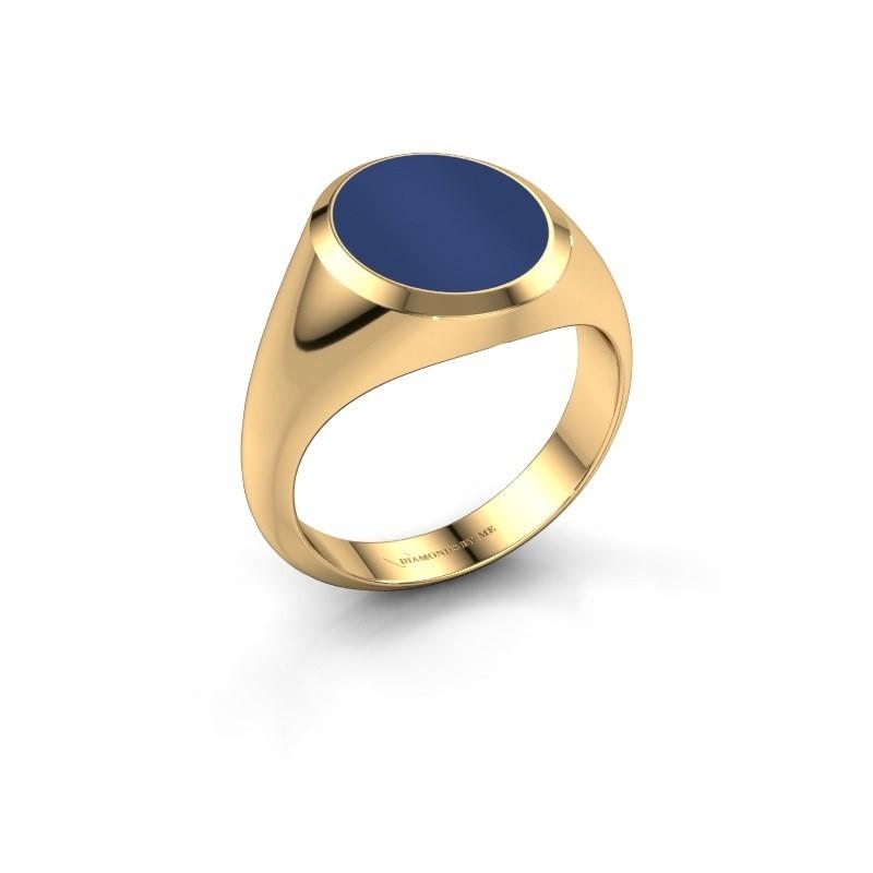 Zegelring Herman 3 375 goud lapis lazuli 13x11 mm