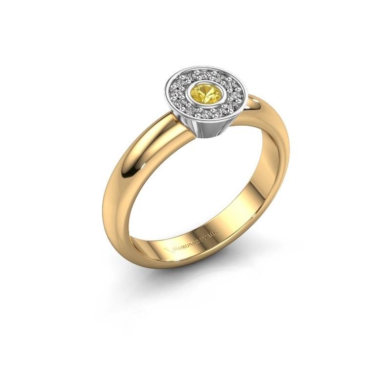Bague Fiene 585 or jaune saphir jaune 2.8 mm