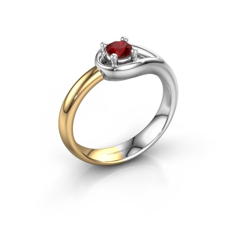 Ring Fabienne 585 white gold ruby 4 mm