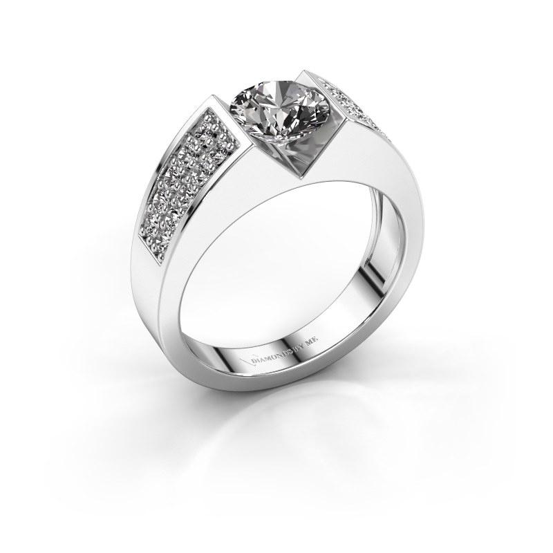 Engagement ring Lizzy 3 585 white gold diamond 1.40 crt